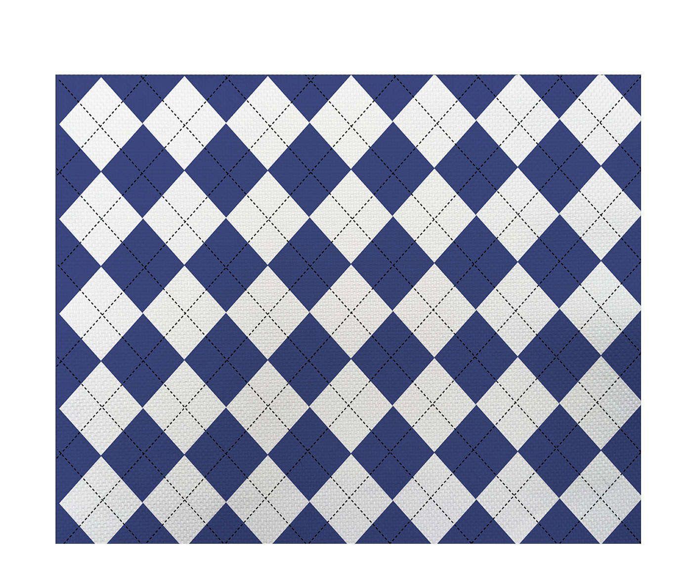 Lugar Americano Xadrez Azul - 35x45cm | Westwing.com.br