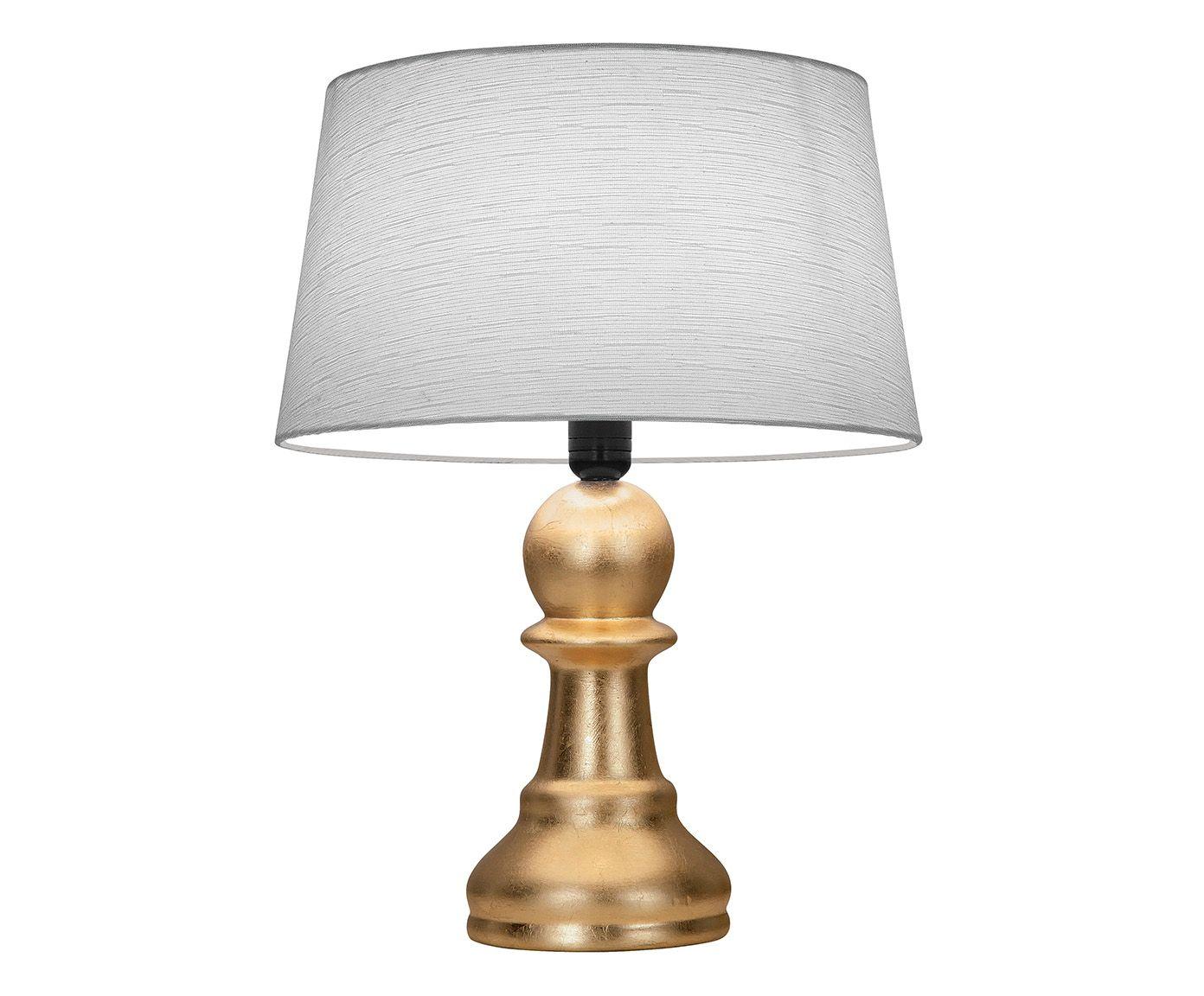 Abajur Peão Folheado a Ouro Bivolt - 39cm   Westwing.com.br