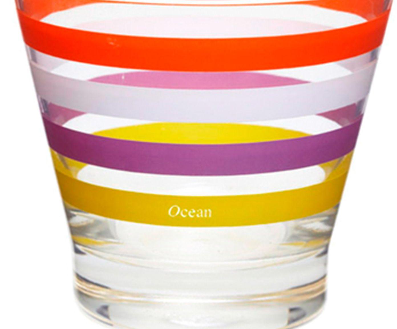 Jogo de Copos Baixos Colorful Stripe - 345ml   Westwing.com.br