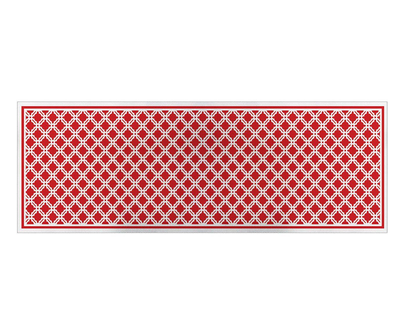 Caminho de Mesa Treliça Vermelho - 45x140cm | Westwing.com.br