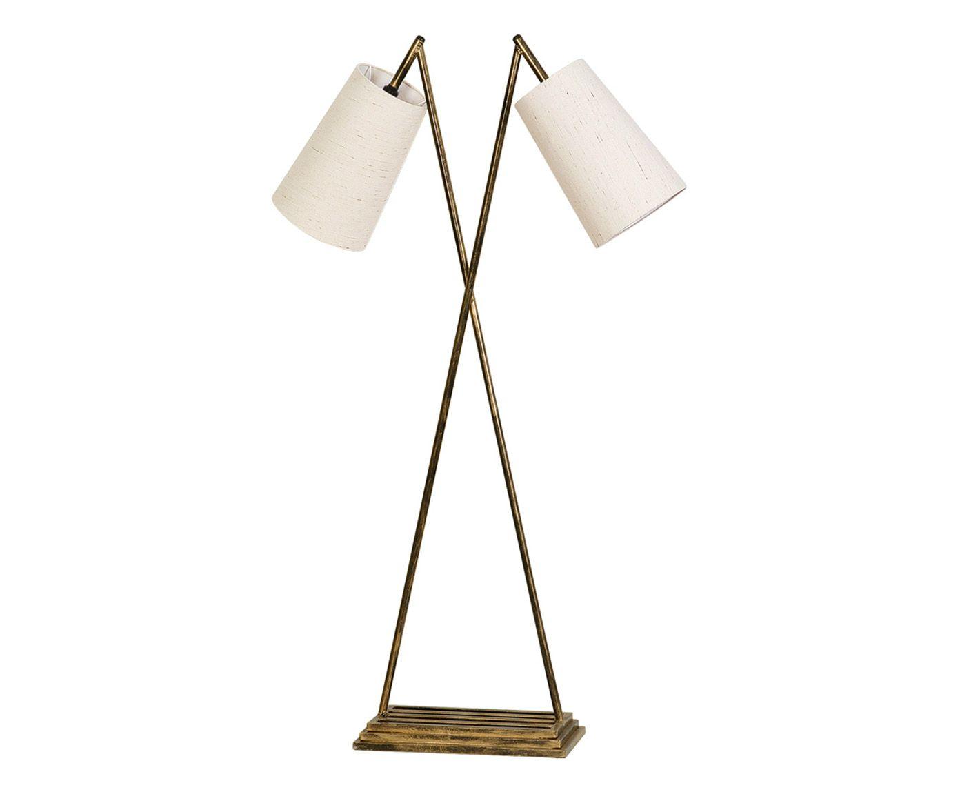 Luminária de Piso Duplo Foure Foco Bivolt - 130cm   Westwing.com.br