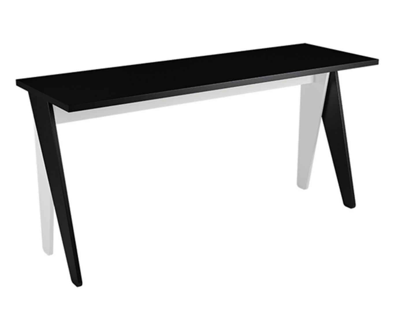 Mesa para Escritório Ripa Preta e Klar - 150x50cm | Westwing.com.br